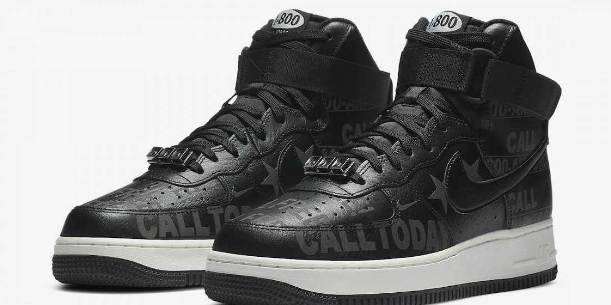 "These incomprehensible AF1s are a little cool!Nike Air Force 1 High '07 Premium ""Toll Free""CU1414-001 Hot Sell"