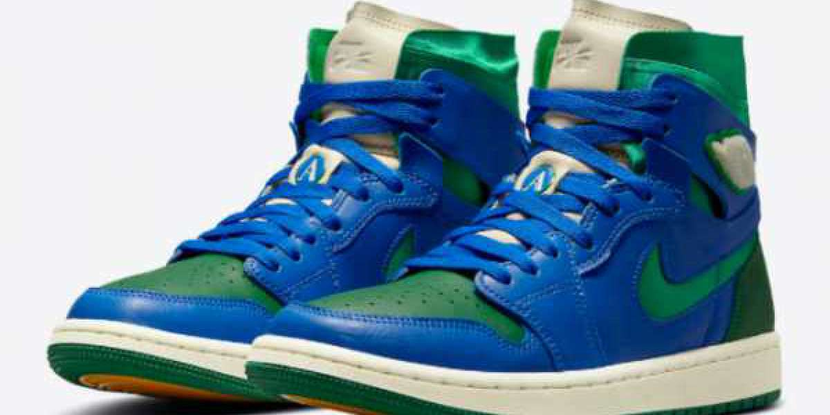Where To Buy The Aleali May x Air Jordan 1 Zoom Comfort Green/Royal Blue DJ1199-400?